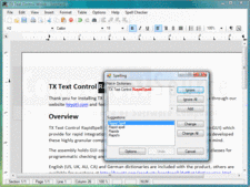 Screenshot of TX Text Control RapidSpell .NET - .NET - V16
