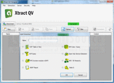 Bildschirmabzug von Xtract QV - Add-In \ Server Application \ Developer Application - 2.3.3