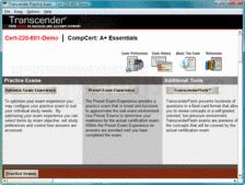 Screenshot of Transcender CompCert: A+ Essentials (CERT-220-601) - Training Course