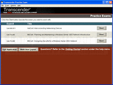 Screenshot of Transcender DBCert Fundamentals 1 (1Z0-031) - Training Course - V9.0