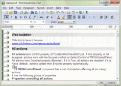 Screenshot of TRichView - VCL - 14.x