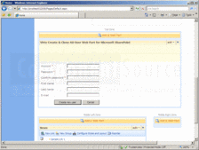 Screenshot of Virto Create & Clone AD User Web Part - Add-In - V1.0