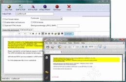 Bildschirmabzug vonwRTF2PDF/TextDynamic Server - ActiveX/DLL/.NET - V4.0