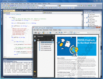 A PDF merge example in PDFlib.