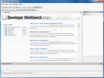 Screenshot from Chant Developer Workbench.