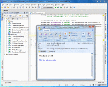 Screenshot from Aspose.Email for Java.