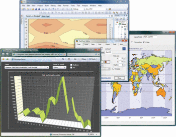 3D Silverlight chart and maps in TeeChart for .NET.