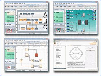 Graphs and diagrams built using Nevron Diagram for .NET.