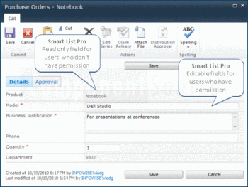 Create SharePoint lists using Smart List Pro.