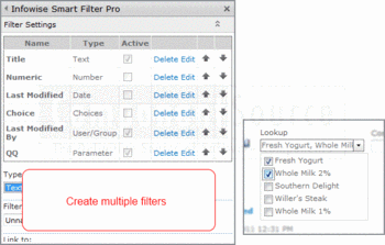 Create filters using Smart Filter Pro.