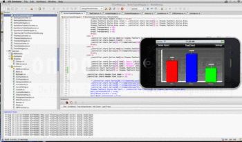 Screenshot from TeeChart.NET Mono for iOS.