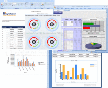 Applications created using Syncfusion Essential Studio Reporting Edition.