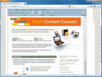 View and convert documents with Prizm Content Connect.