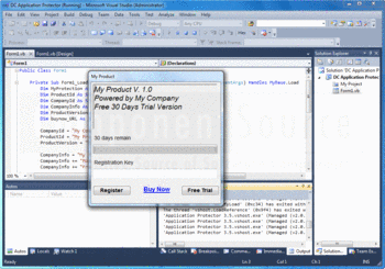 Protect your application using DC Application Protector.