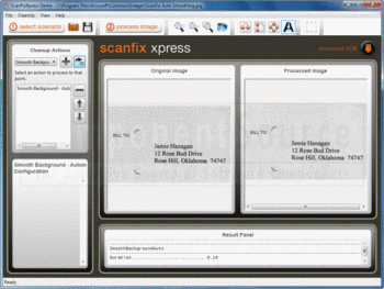 Adjust brightness and contrast with ScanFix Xpress.