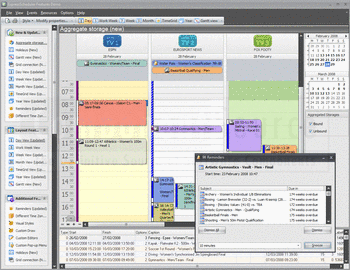 Example scheduling application developed with Developer Express VCL Subscription.