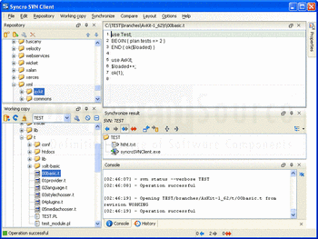 Screenshot from Syncro SVN Client.
