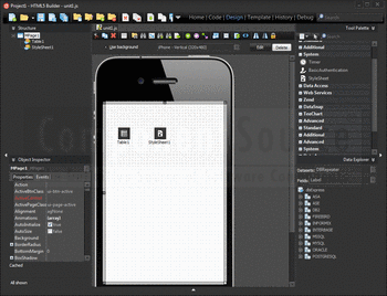 Create apps using HTML5 Builder.