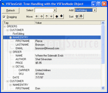 Tree-handling with the VSFlexNode object in VSFlexGrid Pro.