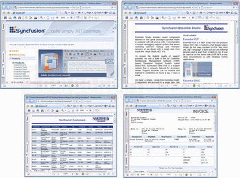 Sample PDFs creadted using Syncfusion Essential PDF.