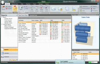 Financial reports created using Infragistics NetAdvantage for Windows Forms.