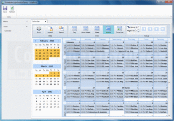 A schedule created with ComponentOne Scheduler for LightSwitch.