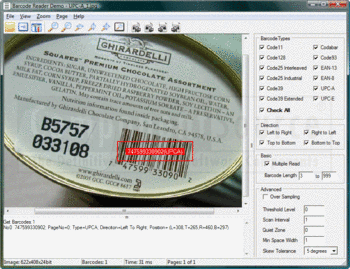 Reading a UPC-A barcode from a photograph.