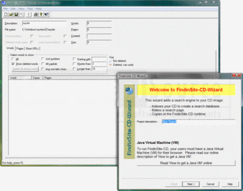 Indexing a CD with FindinSite-CD-Wizard.