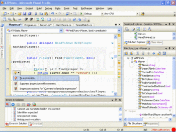 The advanced features of ReSharper are available within Visual Studio.