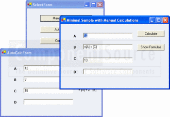Syncfusion Essential Calculate samples including AutoCalc and formulas.