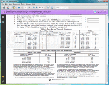 A PDF form created with PDF4NET.