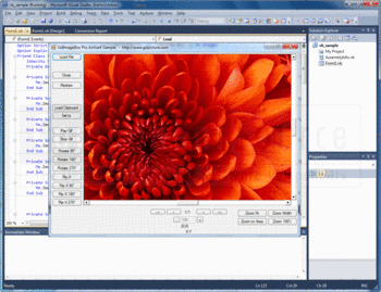 An image viewer sample application made with GdImageBox Pro ActiveX.