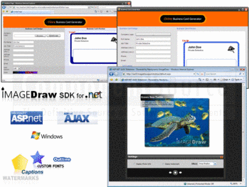 Online business card generator and AJAX slideshow in ImageDraw SDK for .NET.