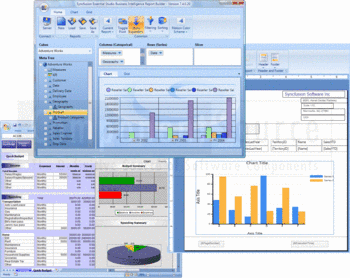 Syncfusion business intelligence and reporting controls.