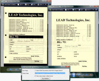 Performing document cleanup with LEADTOOLS Document Imaging SDK.