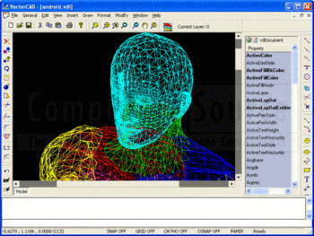 A 3D android model in VectorDraw Developer Framework.