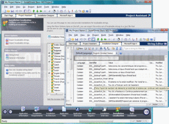 Using the Installation Designer in InstallShield 2011 Premier.