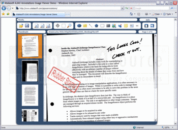 Adding AJAX annotations to a scanned document.