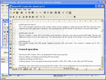 Viewing a PDF created with Amyuni PDF Creator.