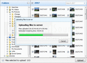 Uploading files to a server with Aurigma Image Uploader Premium.