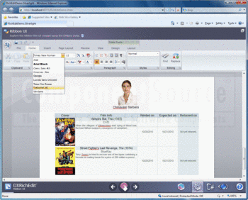 A Silverlight ribbon UI built with DXperience.