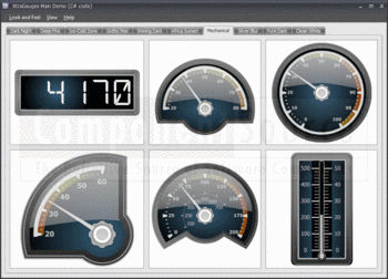 Linear and radial gauges in XtraGauges Suite.
