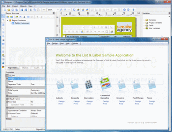 Report Designer and Sample Application in List & Label Enterprise Edition.