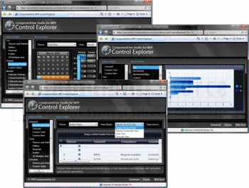 Examples of ComponentOne Studio for WPF's Schedule, DataGrid and Chart.