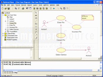 Use Case Diagram viewed in IBM Rational Rose Modeler.