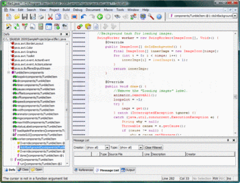 Editing Java code with SlickEdit.