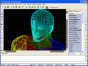 Viewing a CAD file using VectorDraw Developer Framework (VDF).