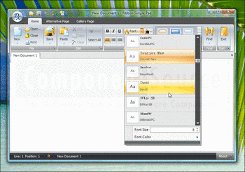 Ribbon control in XtraBars Suite.