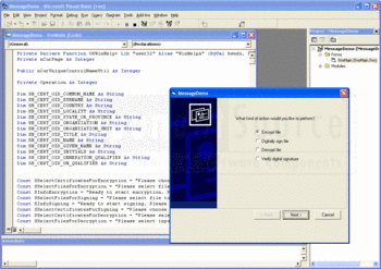 Message demo included in SecureBlackbox ActiveX edition.