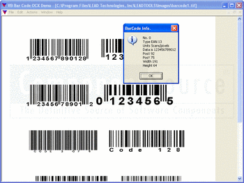 Recognising barcodes using LEADTOOLS 1D Barcode Module.